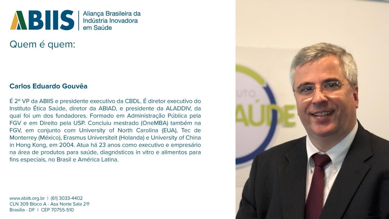 Perfil do 2º VP da ABIIS, Carlos Eduardo Gouvêa